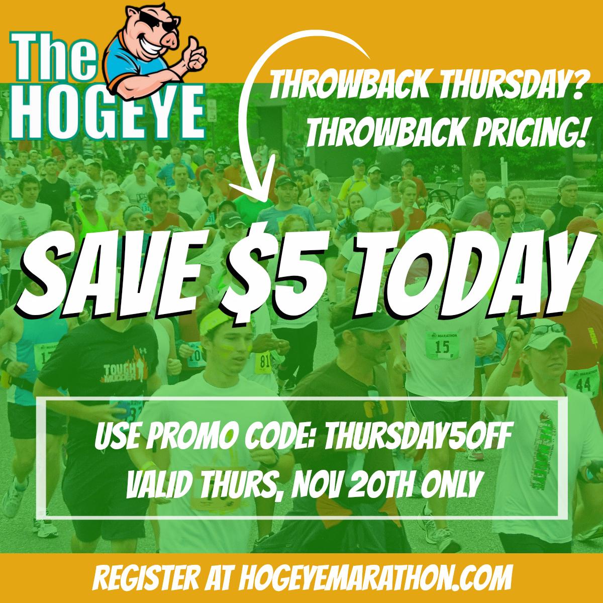 Hogeye Marathon | Throwback Pricing