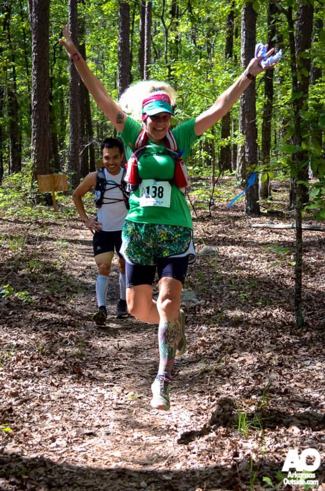 Lalita at the Ouachita Trail 50 Endurance Run - April 2014
